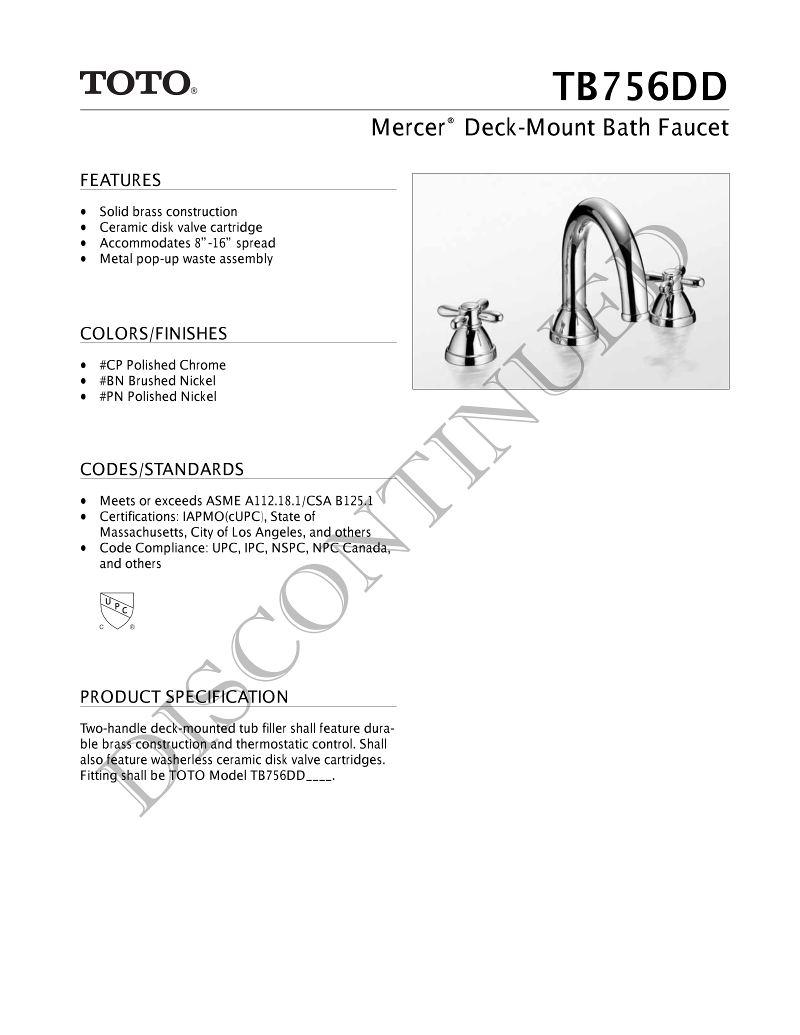 Warehouse Deal Mercer Deck Mount Tub Filler - Andrew Sheret Limited